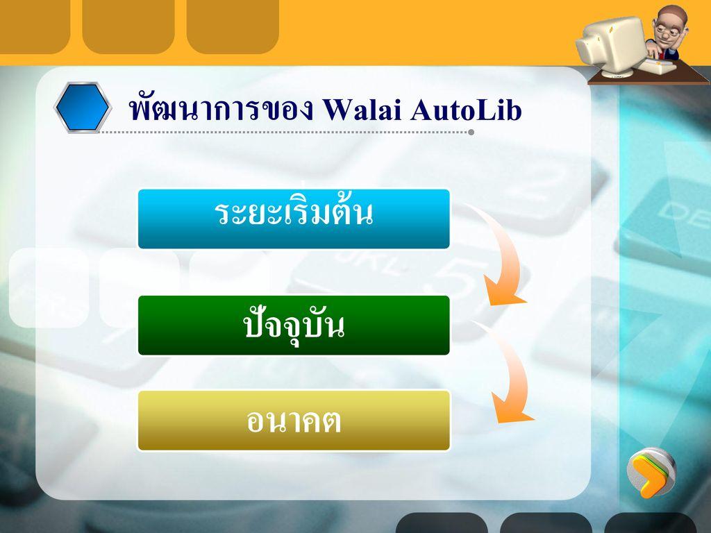 พัฒนาการของ Walai AutoLib