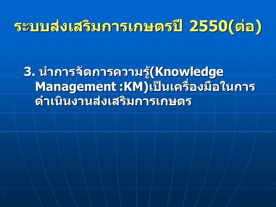 ระบบส่งเสริมการเกษตรปี 2550(ต่อ)