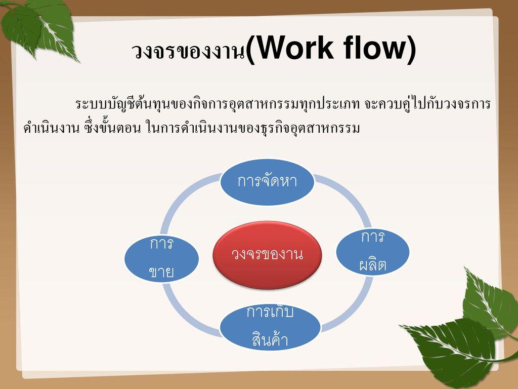 วงจรของงาน(Work flow)