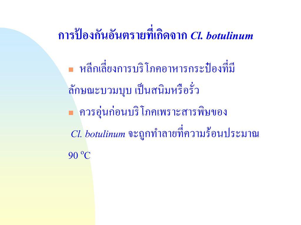 การป้องกันอันตรายที่เกิดจาก Cl. botulinum