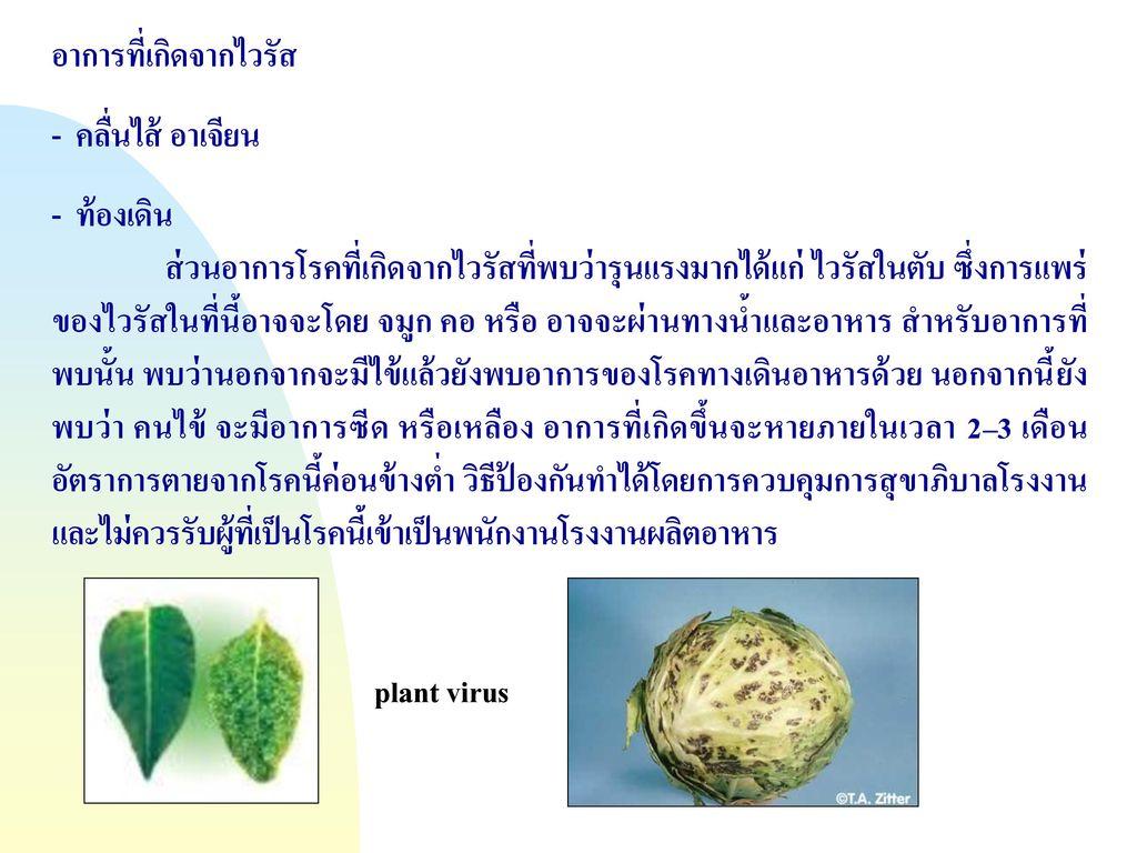 อาการที่เกิดจากไวรัส