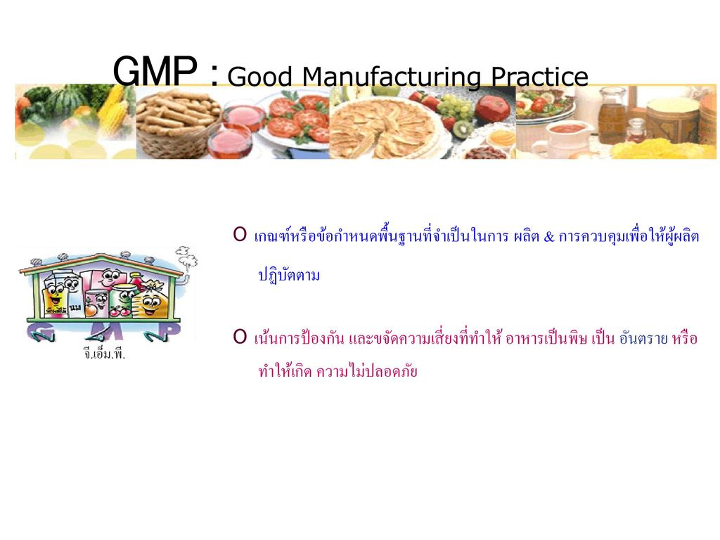 GMP : Good Manufacturing Practice
