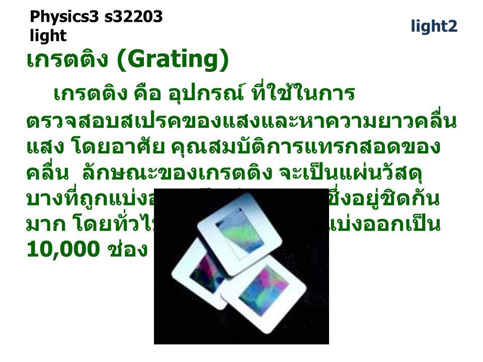 Physics3 s32203 light light2. เกรตติง (Grating)