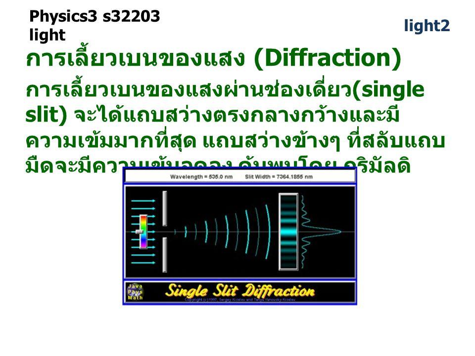 การเลี้ยวเบนของแสง (Diffraction)