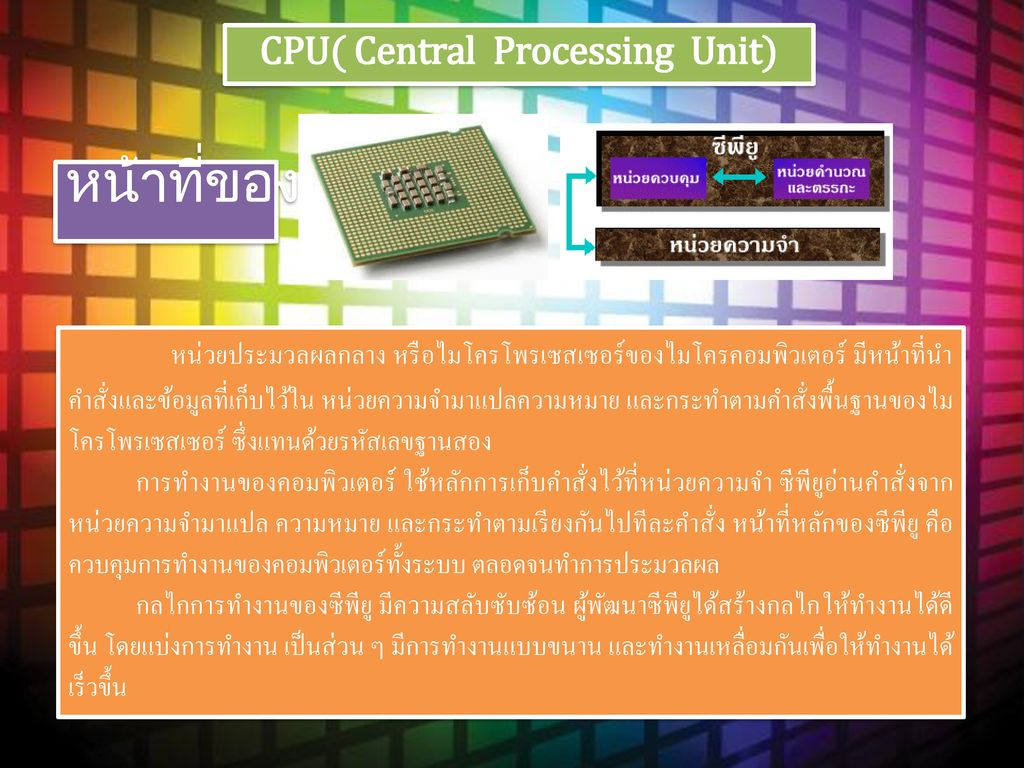 CPU( Central Processing Unit)