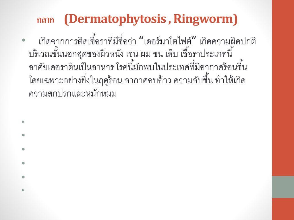 กลาก (Dermatophytosis , Ringworm)