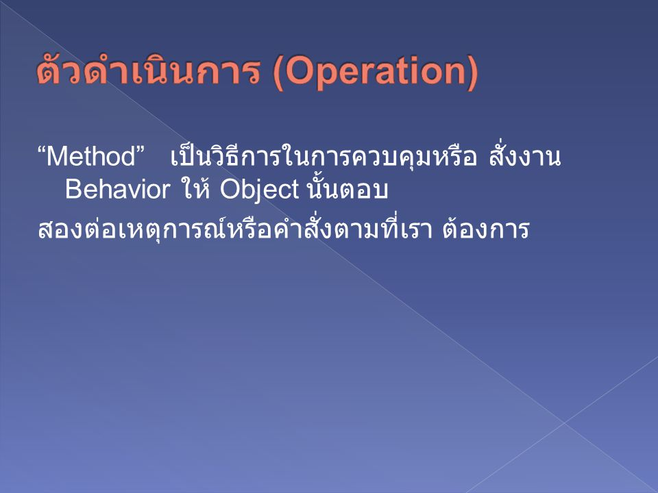 ตัวดำเนินการ (Operation)