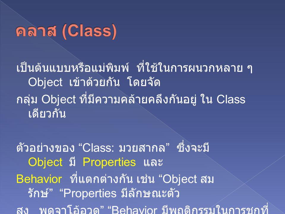 คลาส (Class)
