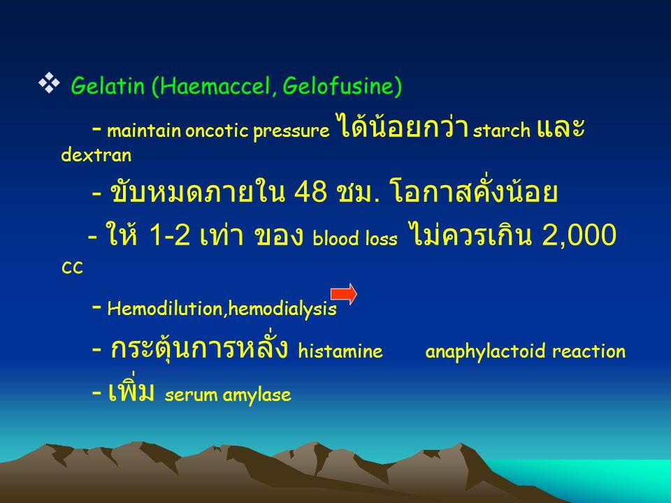 Gelatin (Haemaccel, Gelofusine)