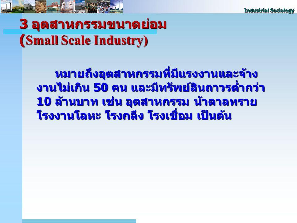 3 อุตสาหกรรมขนาดย่อม (Small Scale Industry)