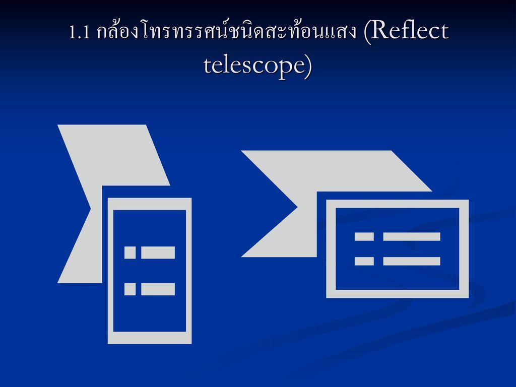 1.1 กล้องโทรทรรศน์ชนิดสะท้อนแสง (Reflect telescope)