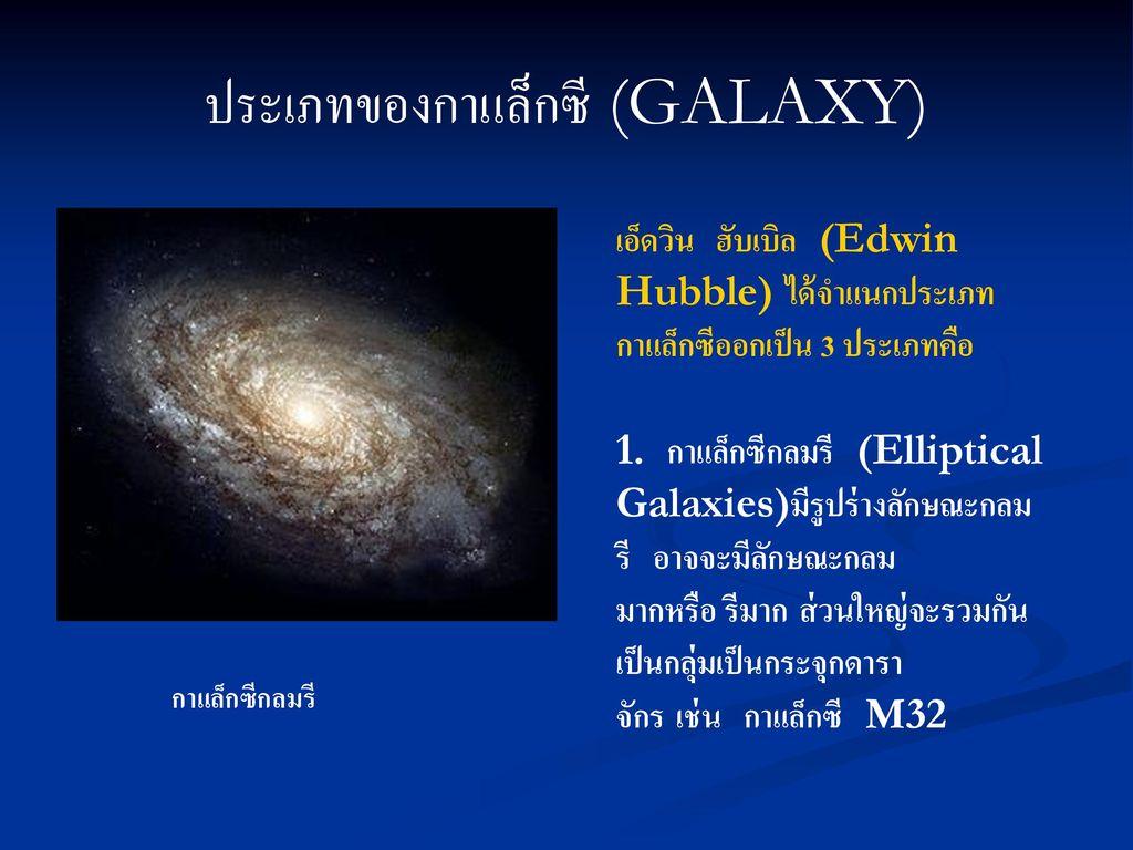 ประเภทของกาแล็กซี (GALAXY)
