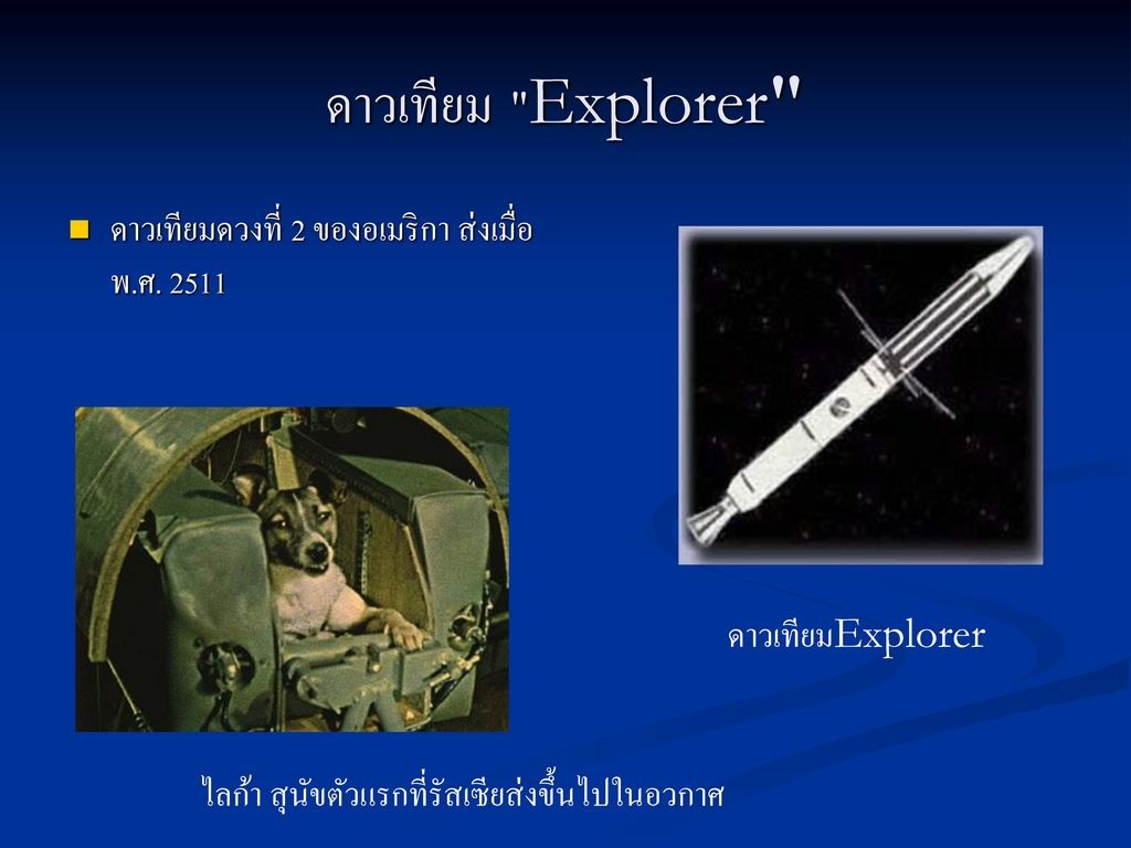 ดาวเทียม Explorer ดาวเทียมดวงที่ 2 ของอเมริกา ส่งเมื่อพ.ศ. 2511
