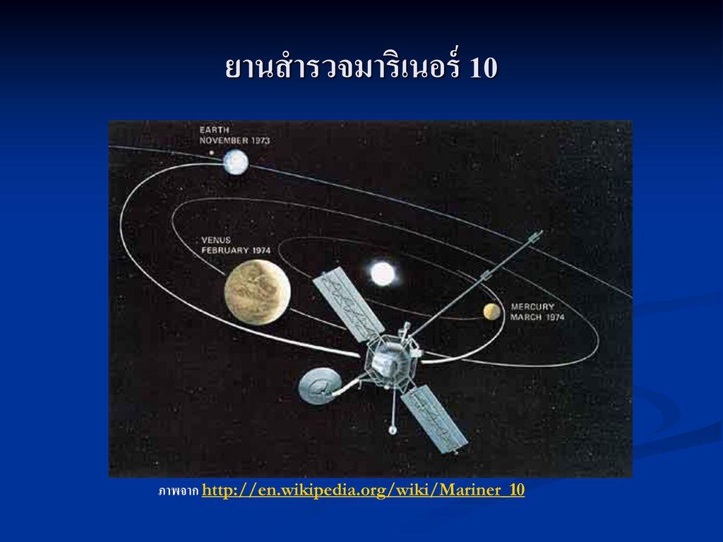 ยานสำรวจมาริเนอร์ 10 ภาพจาก http://en.wikipedia.org/wiki/Mariner_10