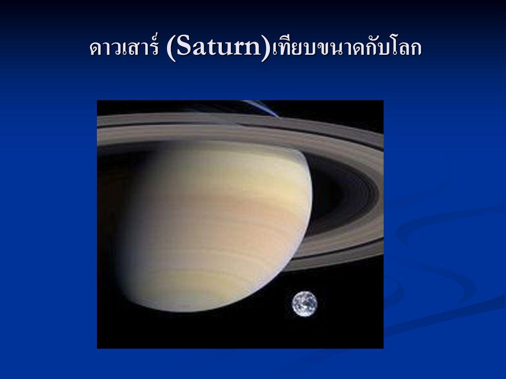 ดาวเสาร์ (Saturn)เทียบขนาดกับโลก