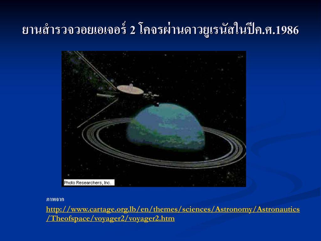 ยานสำรวจวอยเอเจอร์ 2 โคจรผ่านดาวยูเรนัสในปีค.ศ.1986