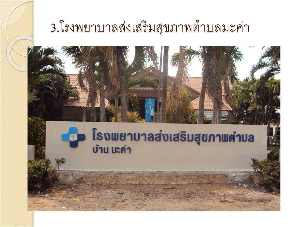 3.โรงพยาบาลส่งเสริมสุขภาพตำบลมะค่า