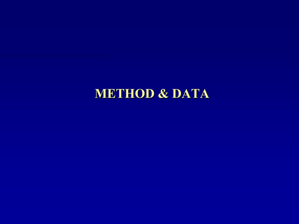 METHOD & DATA