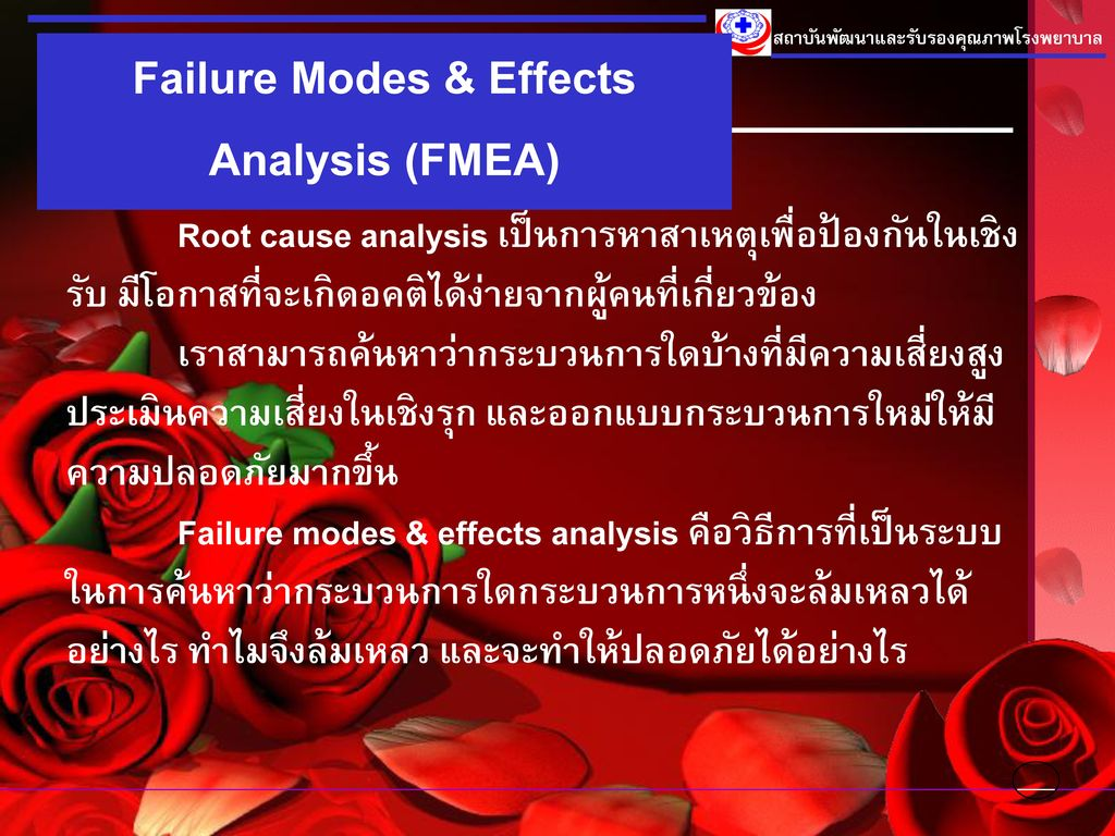 Failure Modes & Effects Analysis (FMEA)