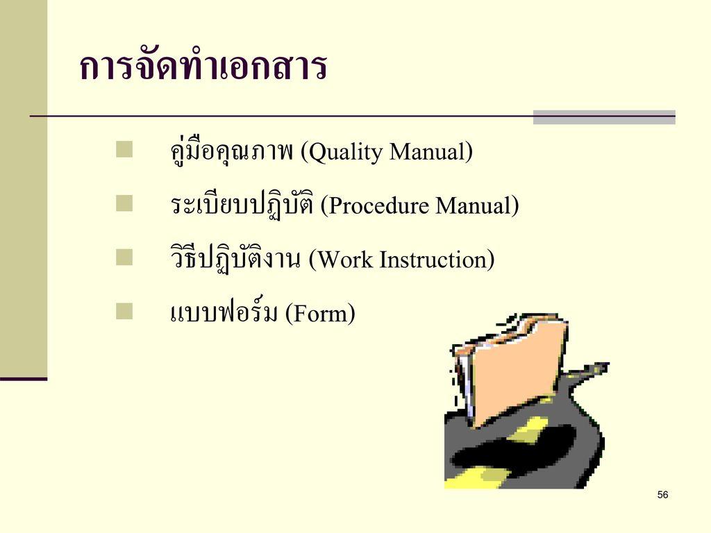 การจัดทำเอกสาร คู่มือคุณภาพ (Quality Manual)
