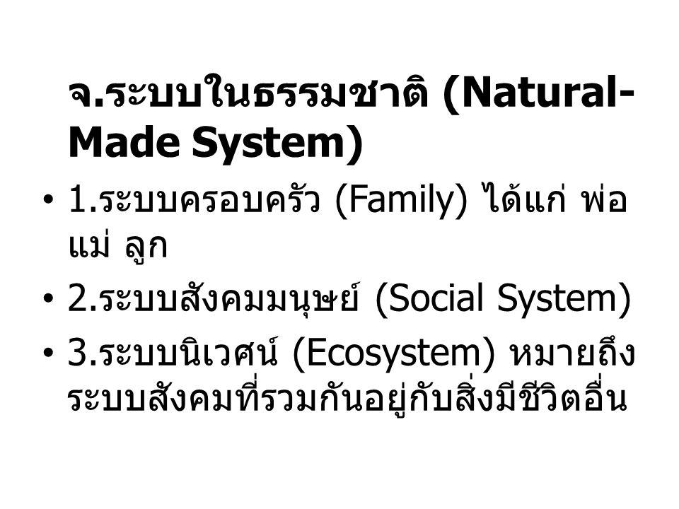 จ.ระบบในธรรมชาติ (Natural-Made System)