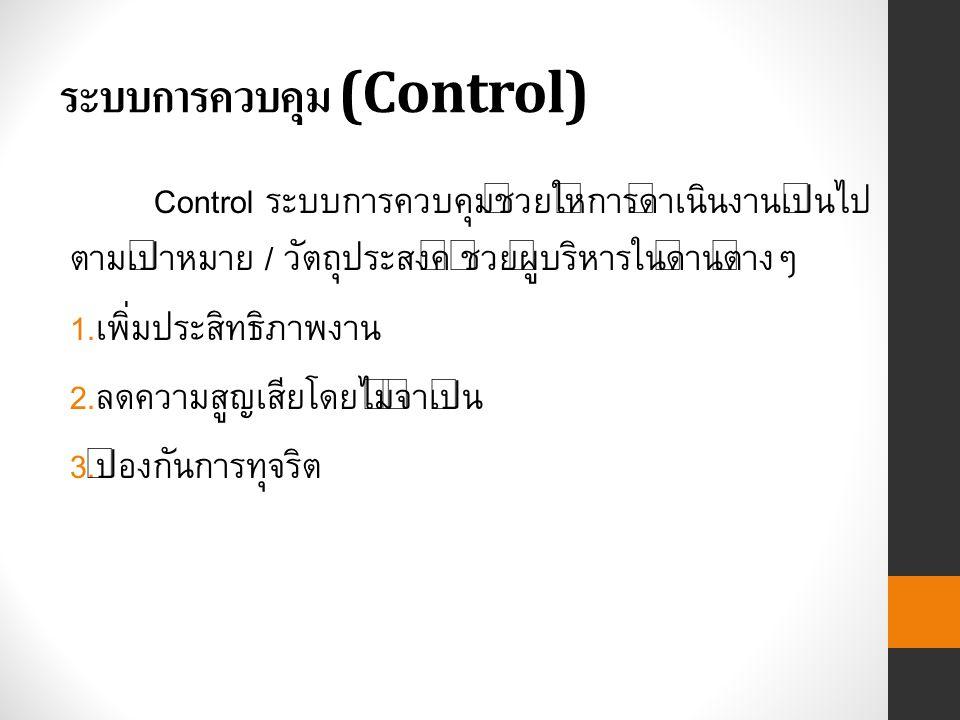 ระบบการควบคุม (Control)