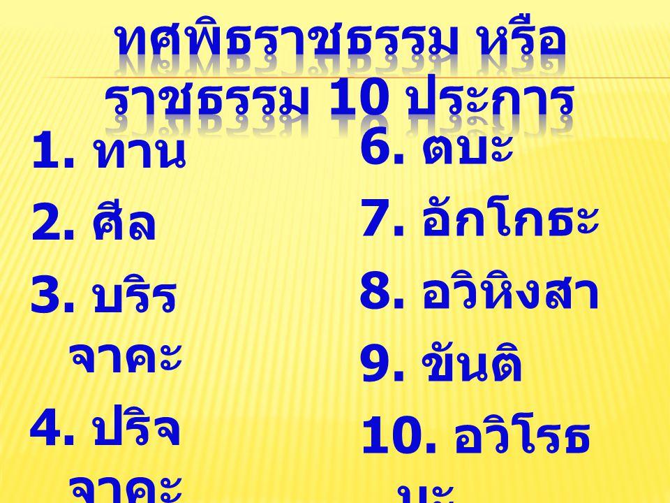 ทศพิธราชธรรม หรือราชธรรม 10 ประการ