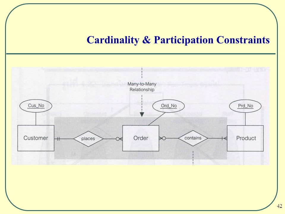 Cardinality & Participation Constraints