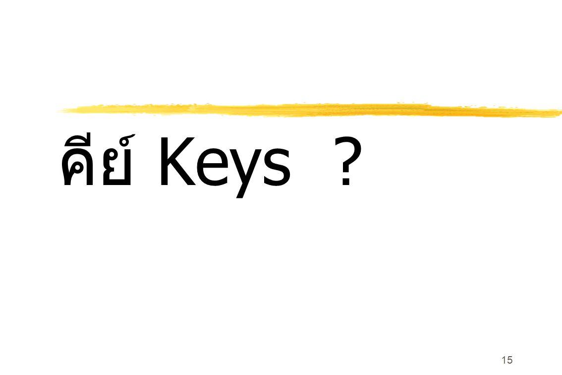 คีย์ Keys