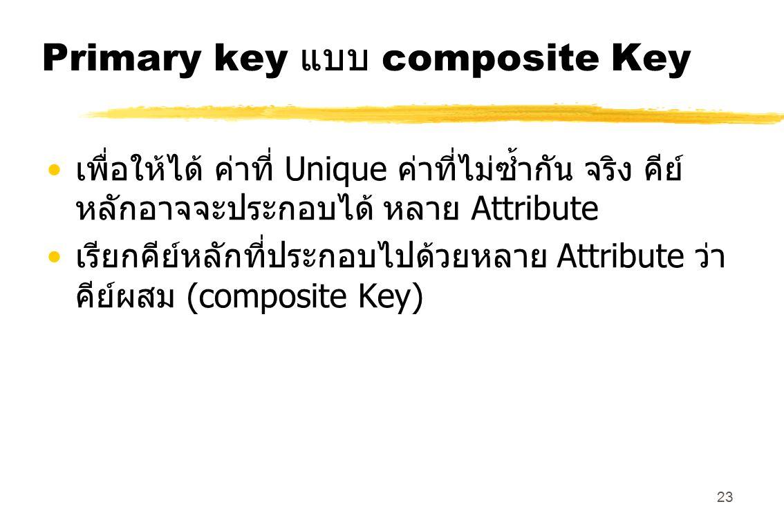Primary key แบบ composite Key
