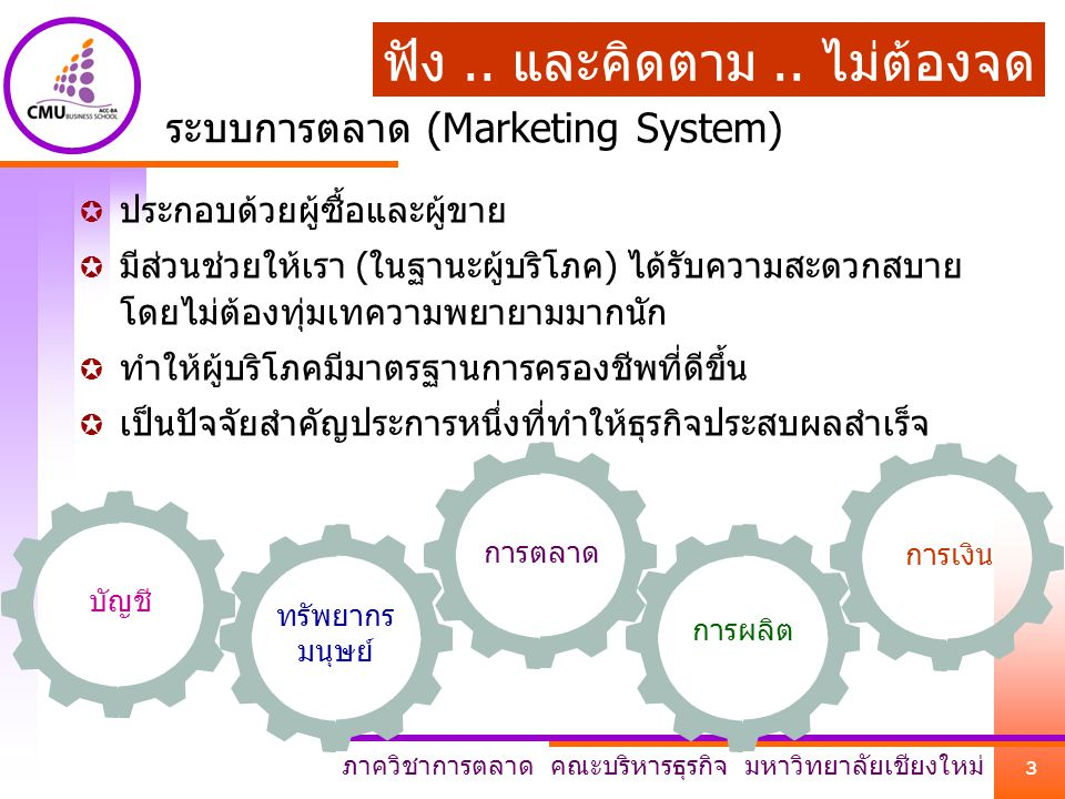 ระบบการตลาด (Marketing System)