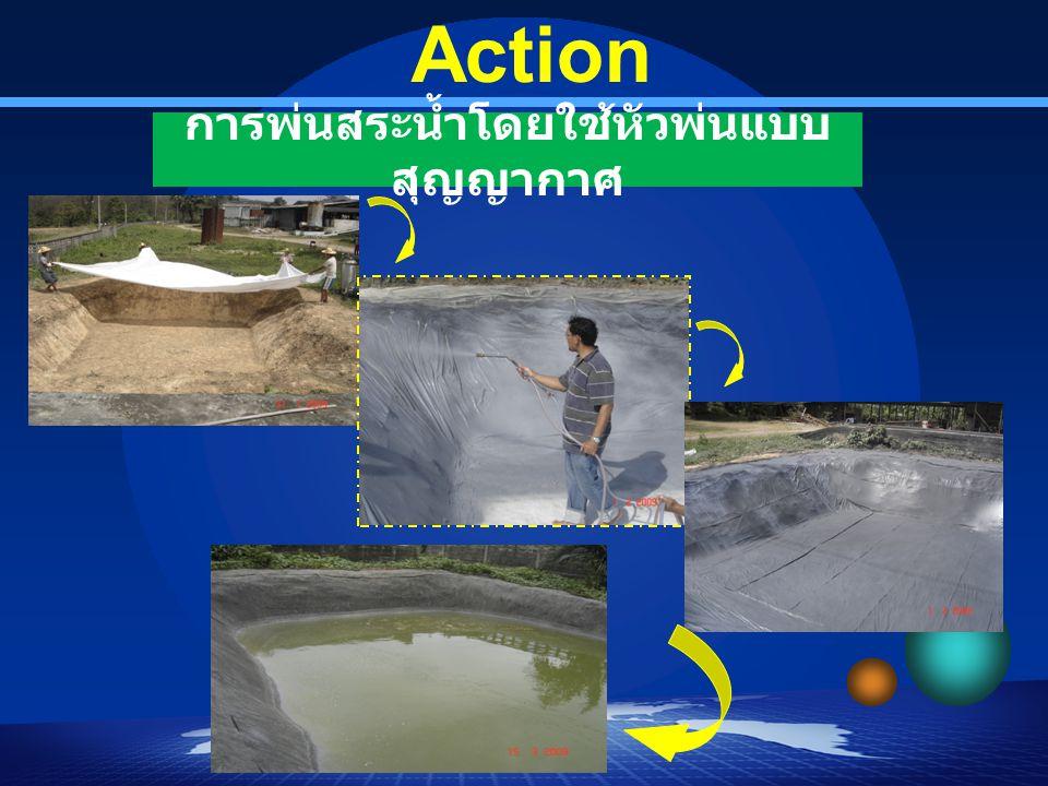 การพ่นสระน้ำโดยใช้หัวพ่นแบบสุญญากาศ