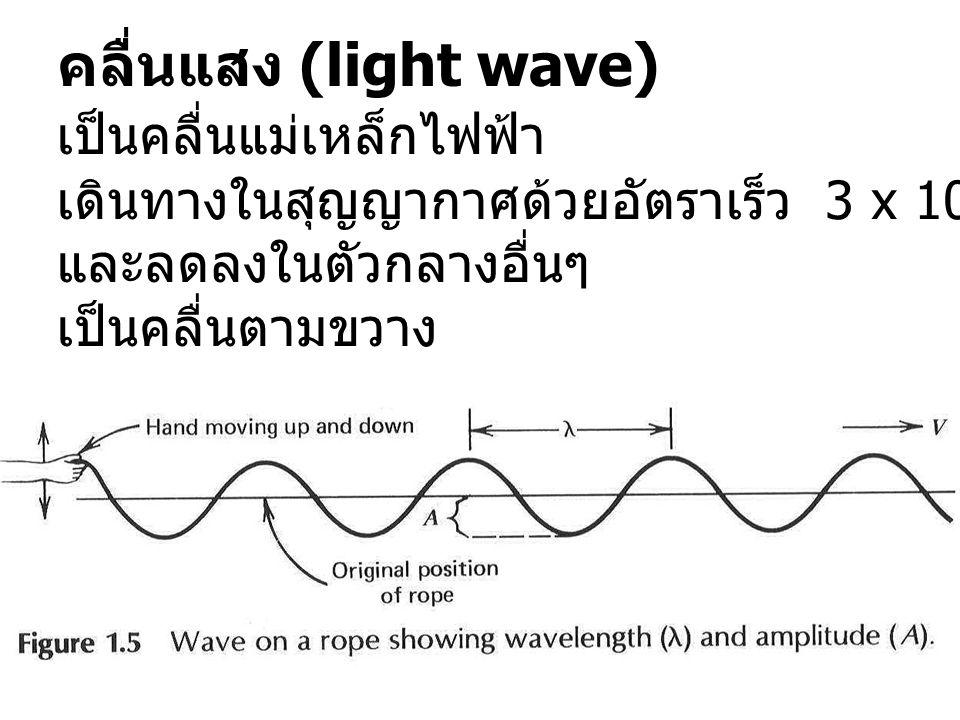 คลื่นแสง (light wave) เป็นคลื่นแม่เหล็กไฟฟ้า