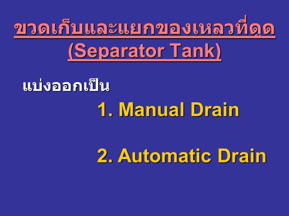 ขวดเก็บและแยกของเหลวที่ดูด(Separator Tank)