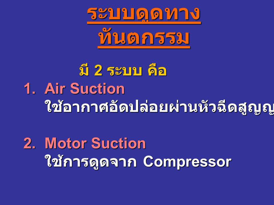 ระบบดูดทางทันตกรรม 1. Air Suction