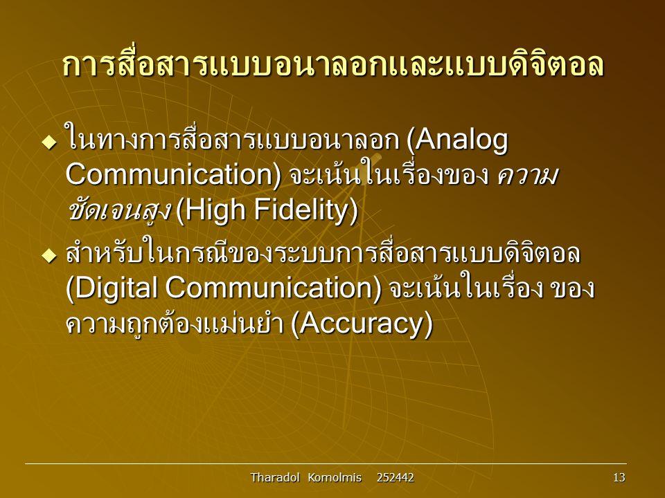การสื่อสารแบบอนาลอกและแบบดิจิตอล