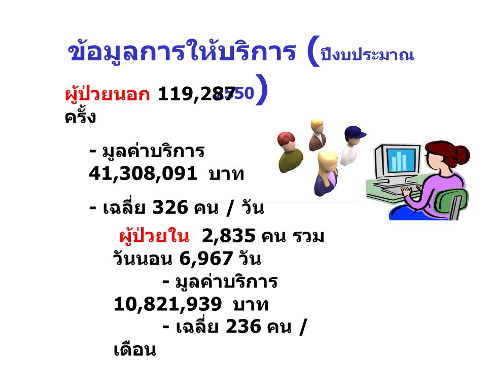 ข้อมูลการให้บริการ (ปีงบประมาณ 2550)