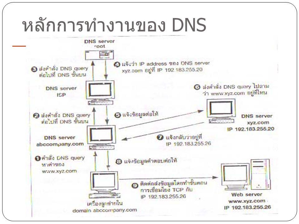 หลักการทำงานของ DNS