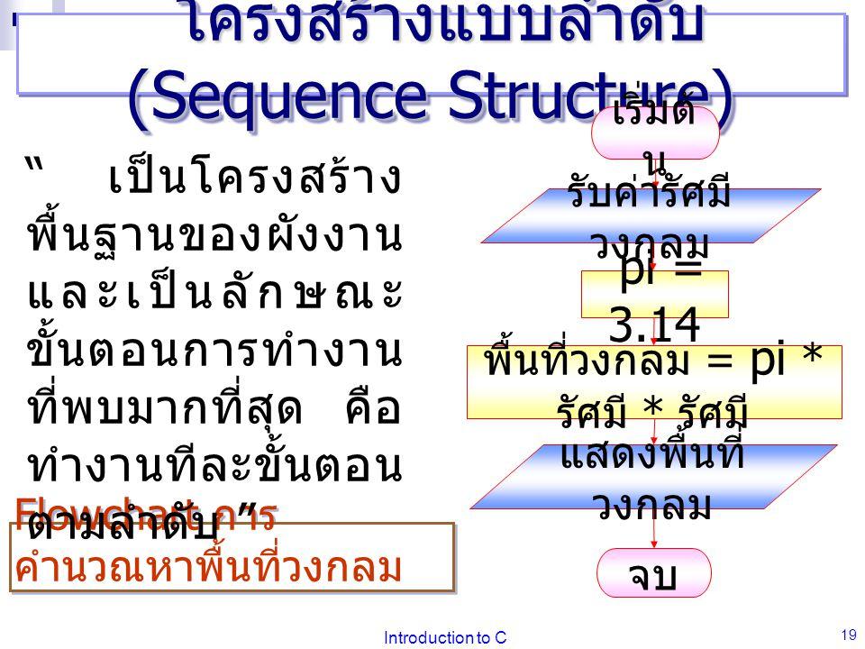 โครงสร้างแบบลำดับ (Sequence Structure)
