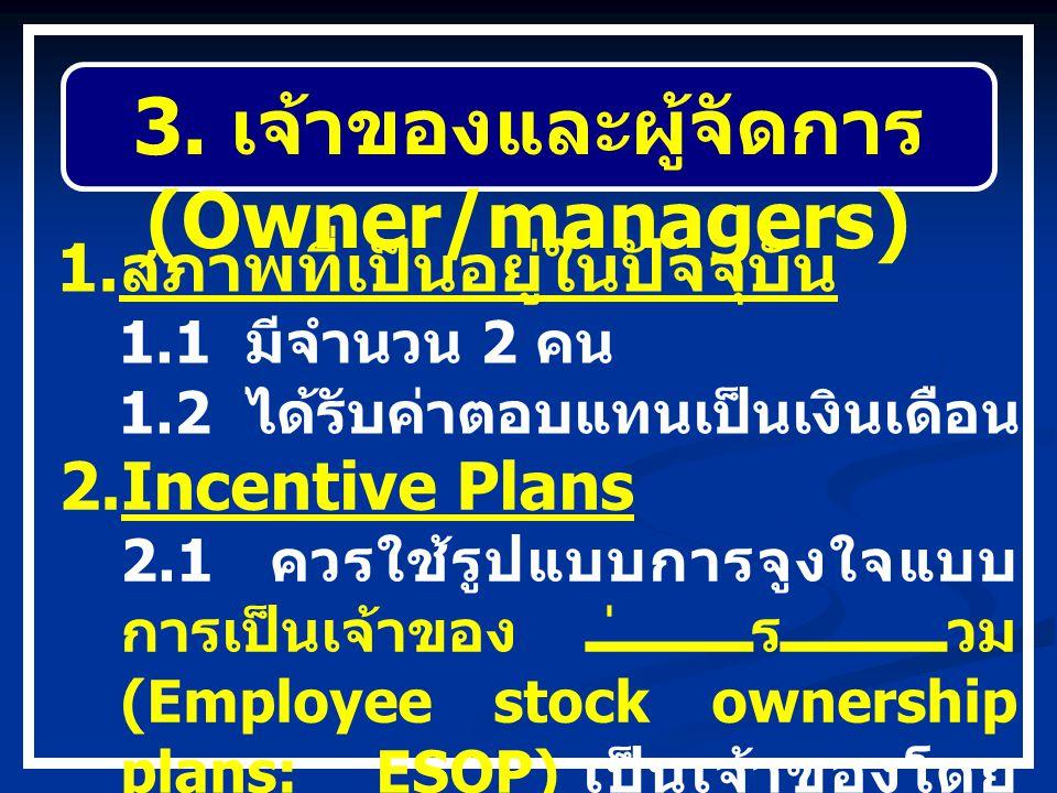 3. เจ้าของและผู้จัดการ (Owner/managers)