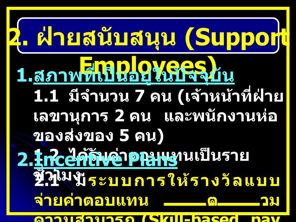 2. ฝ่ายสนับสนุน (Support Employees)