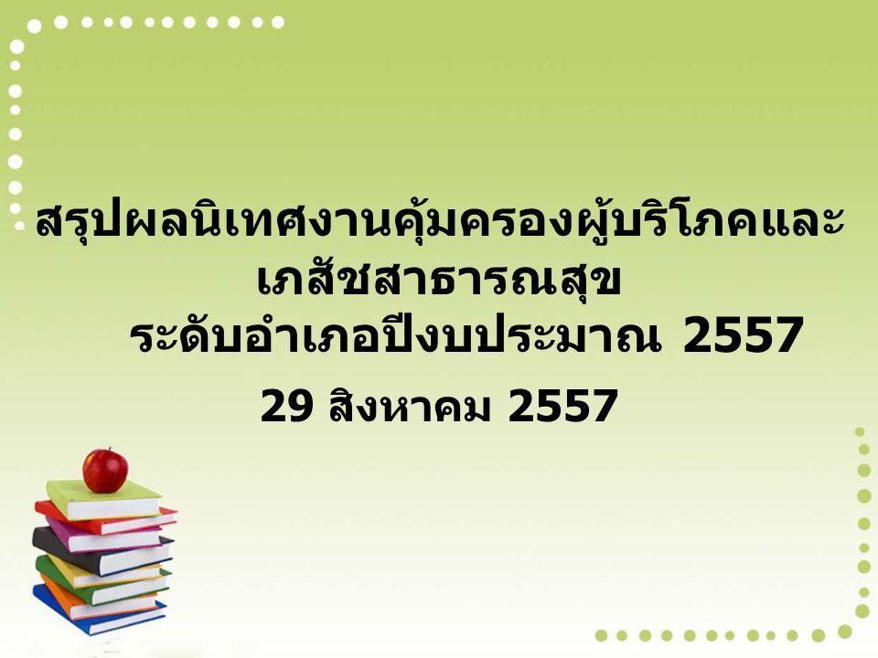 สรุปผลนิเทศงานคุ้มครองผู้บริโภคและเภสัชสาธารณสุข ระดับอำเภอปีงบประมาณ 2557