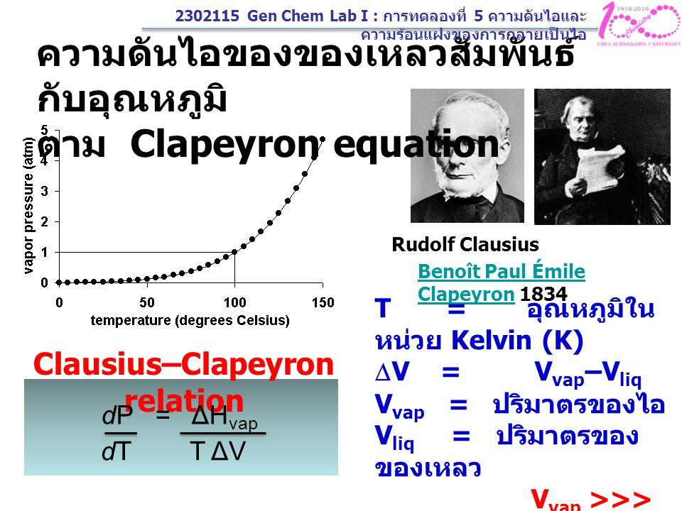 Clausius–Clapeyron relation