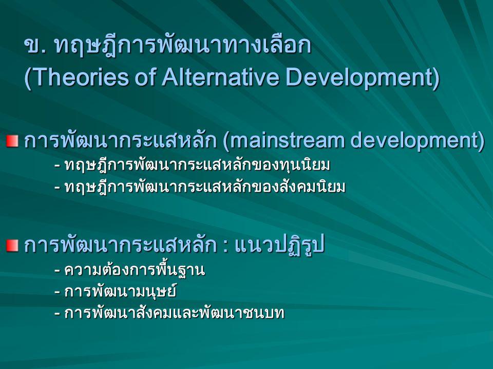 (Theories of Alternative Development)