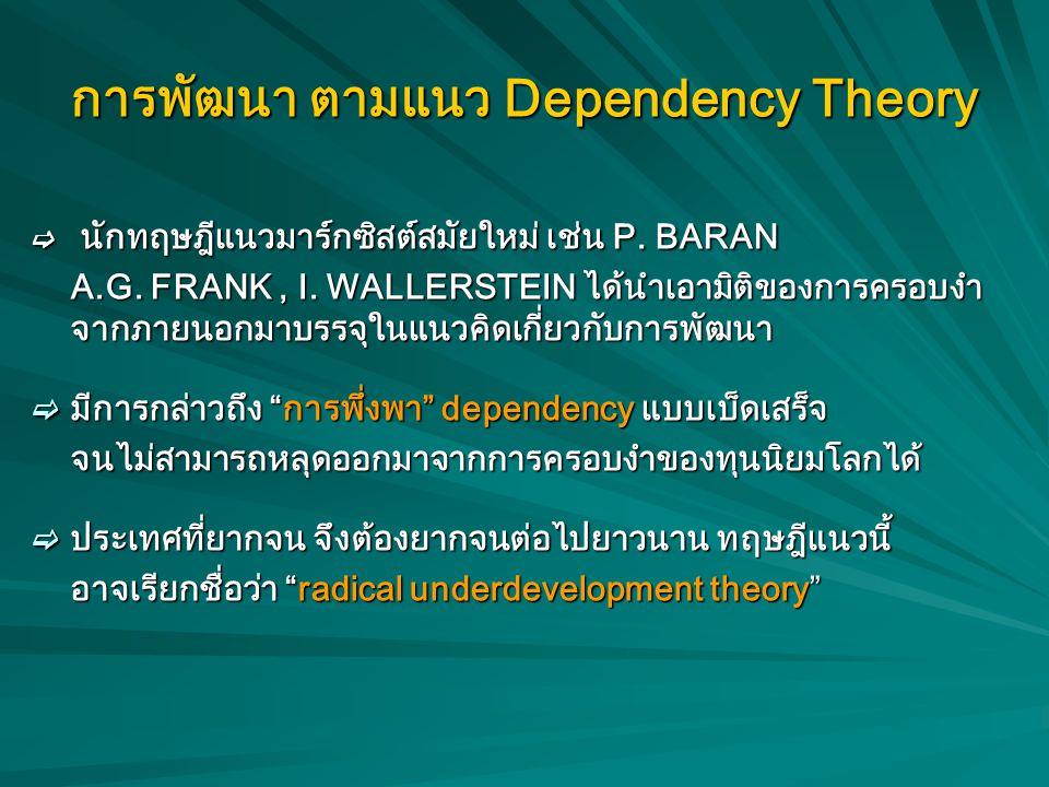 การพัฒนา ตามแนว Dependency Theory