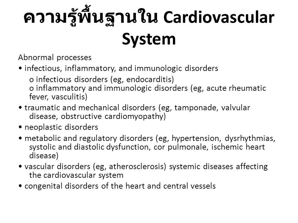 ความรู้พื้นฐานใน Cardiovascular System