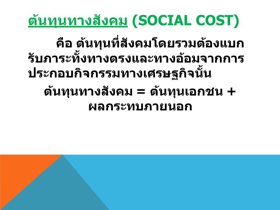 ต้นทุนทางสังคม (Social Cost)