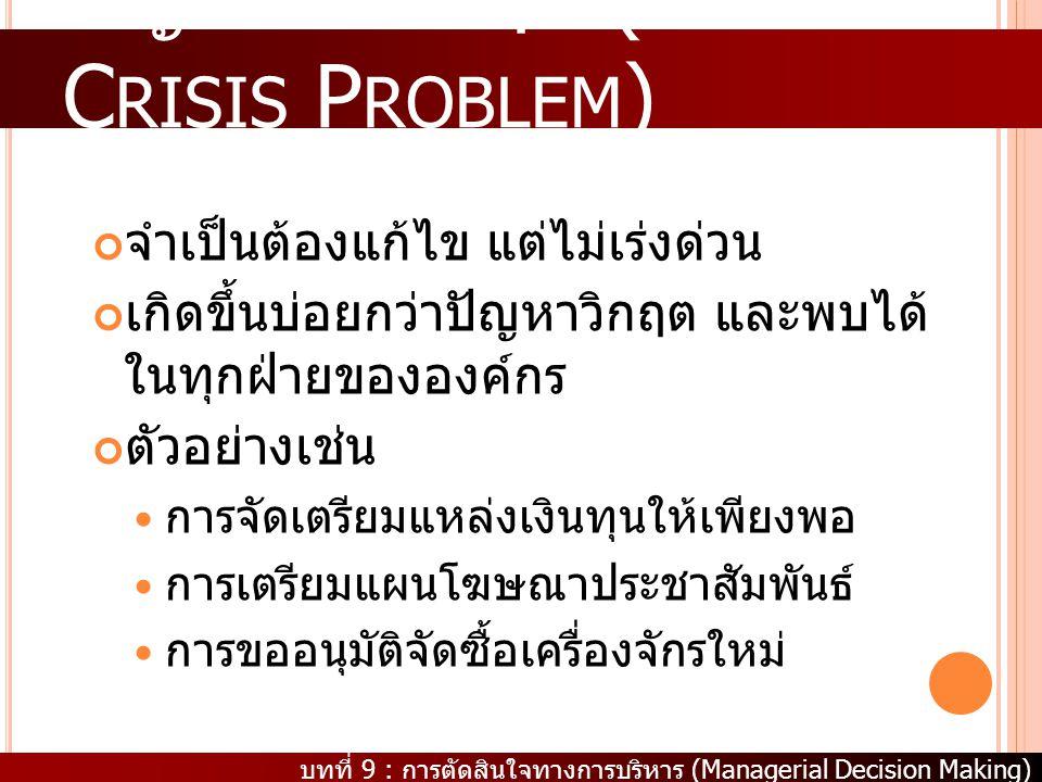 ปัญหาไม่วิกฤต (Non Crisis Problem)