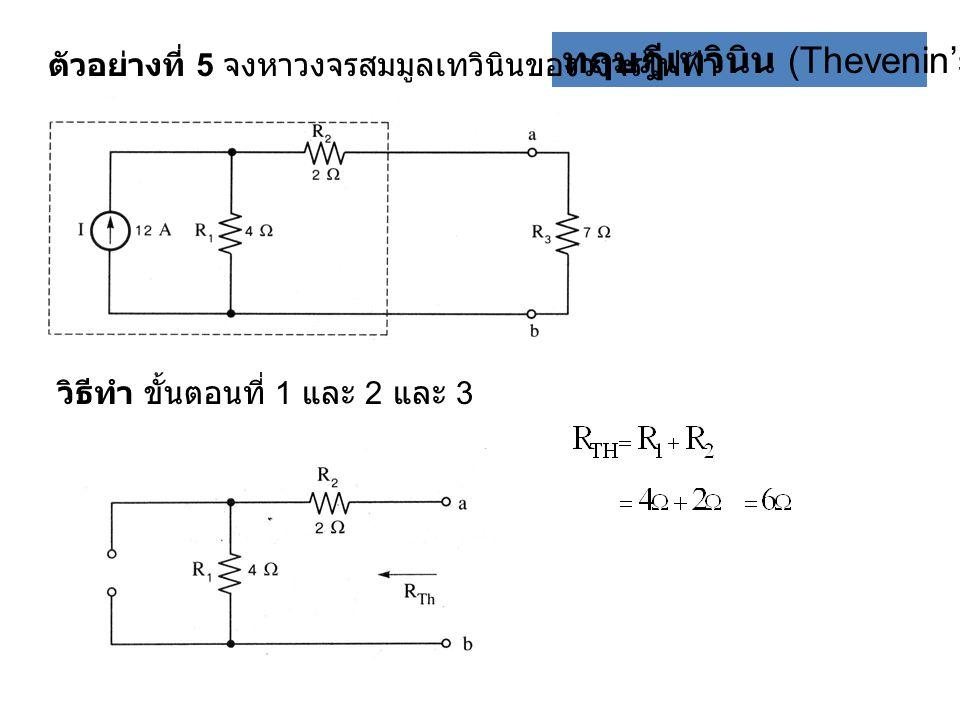 ทฤษฎีเทวินิน (Thevenin's theorem)