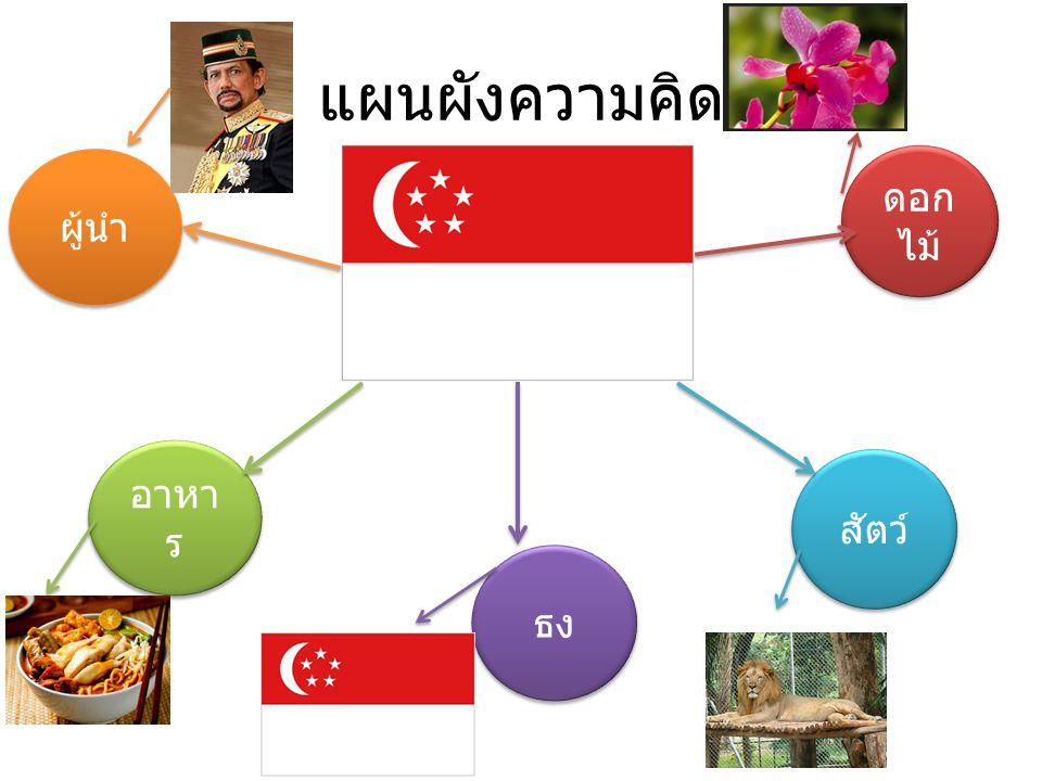แผนผังความคิด ผู้นำ ดอกไม้ อาหาร สัตว์ ธง